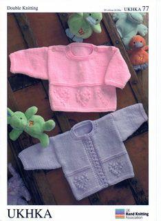 0c0a3fc35e866 UKHKA 77 pattern by Audrey Wilson. Double Knitting Patterns ...