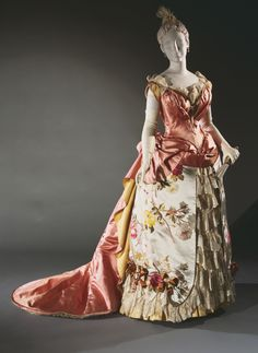 Woman's Evening Dress: Bodice and Skirt Charles Frederick Worth c. 1886-87