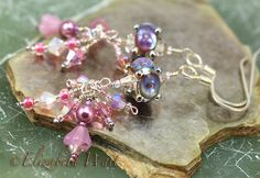 Pink Lilac Handmade Artisan betsybeads Lampwork Beads by betsymn, $22.00