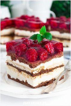 Ciasto Balladyna - I Love Bake Dessert Cake Recipes, No Cook Desserts, Delicious Desserts, Yummy Food, Chocolate Fudge Cake, Just Cakes, No Bake Cake, Nutella, Sweet Recipes