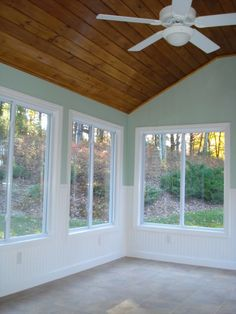 What a great way to liven up a sunroom, diychatroom.com! How great would Prefinished Wood Accents look in any finish on your sunroom ceiling?