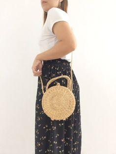 PRE-ORDER Cute Round straw bag / Tribal bag / mini straw Bag /