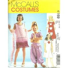 Childrens/Girls Dress-Up Costumes McCall's Costume Sewing Pattern 4169 (Size : 7-14)