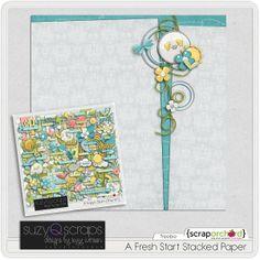 """A Fresh Start"" stacked paper #freebie at SuzyQScraps.com #digiscrap #digifree"