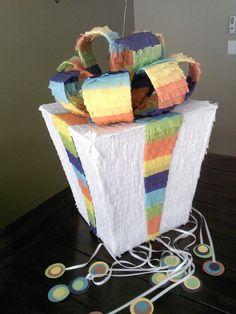 Gender Reveal Gift Box Pinata by SmashingFunCreations on Etsy