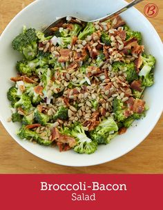 Whether it's packed for lunch or shared for a picnic, who can resist a heaping helping of this creamy bacon and broccoli combo?