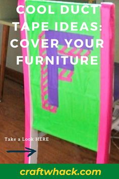 Creativity has no bounds, and Craft Whack discovered these awesome cool duct tape ideas and how to cover your furniture. Covering your kid's tables and chairs in brightly colored duct tape gives the old and boring furniture a complete makeover – giving the entire bedroom a totally new look! Give your child access to bold-colored duct tape and leave her to create to her heart's content. We're sure you'll be as surprised as we were. #DuctTapeIdeas #KidRoomDecor #KidArt #KidCrafts