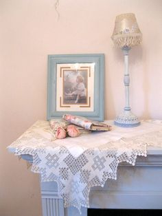 Antique Linen and Crochet Tablecloth White on by mailordervintage