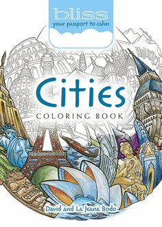 The world goes round with this unique coloring book and its circular images of cityscapes. Over 40 stress-relieving illustrations range from Cairo's ancient pyramids to modern skyscrapers of Hong Kong, Dubai, Madrid, elsewhere.