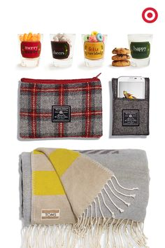 Pour this lucky gift-receiving guy a tall cup of cozy. From Faribault for Target woolen accessories to plush TOMS for Target throws and glasses made for sweets and cocktail treats, your man's heart is sure to be warmed. Merry Christmas!