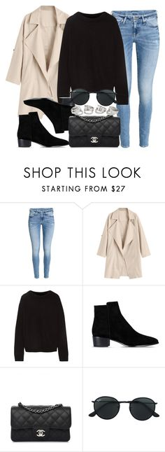 """""""Sin título #14407"""" by vany-alvarado ❤ liked on Polyvore featuring H&M, The Elder Statesman, Barbara Bui, Chanel and Ray-Ban"""