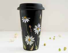 Delicate Floral Hand Painted Coffee Cups – Fubiz Media