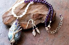 Handcrafted Necklace Set Tree of Life Artisan by JensFancy on Etsy, $235.00