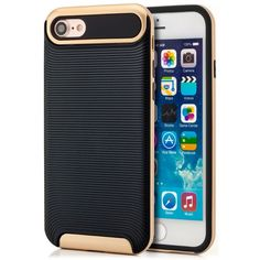 "AR-Silikon Back Cover Typ 2 für Apple iPhone 7 (4,7"") - Schwarz-Gold"