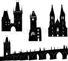 Table names - Prague silhouette