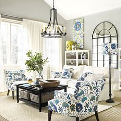 Lena Tufted Club Chairs in Zara Turquoise fabric by the yard by Ballard Designs