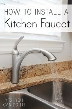 how to install a kitchen faucet, this really changes the look of a kitchen. Small fix for a grand look