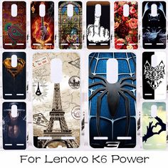 Silicone OR Plastic Mobile Phone Case Cover For Lenovo Vibe K6 K6 Power Smartphone Case Shield Back Covers Shell Housing Hood