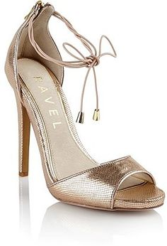 9f9b821efb47 Womens rose gold ravel lace up heeled sandals from Lipsy - £75 at  ClothingByColour.com