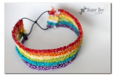 Rainbow braided headband tutorial at the Sugar Bee: great for little girls, but would also look cute in other fabrics for teens or adults.