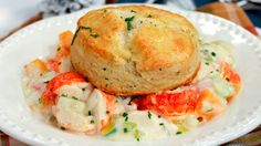 Celebrate the holidays in East Coast style with this decadent lobster pot pie from Chef Lynn Crawford. Lobster Pot Pies, Lobster Recipes, Seafood Recipes, Seafood Dishes, Seafood Bake, Chef Recipes, Great Recipes, Favorite Recipes, Recipies