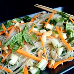 Vietnamese Rice-Noodle Salad Double the dressing and reduce sugar by half - very refreshing!