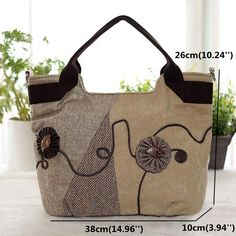High-quality Women Chinese Style Tote Bag Classic Handbag Canvas Shopping Bag - NewChic