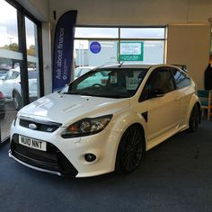 2010 10 Ford Focus 2.5T RS 3 Door Hatchback finished in Frozen White - 1 Private Owner from New!! This car can only be described as impeccable - Credit due to the owner / Full Ford Dealer Service History. Available at Wynyard Motor Company #wynyardmotorcompany #fordfocusrs #focusrs #focusrsmk2