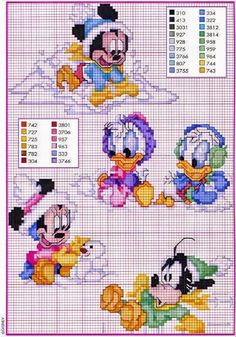 new ideas baby crochet disney cross stitch Cross Stitch Disney, Disney Cross Stitch Patterns, Cross Stitch For Kids, Cross Stitch Love, Cross Stitch Charts, Counted Cross Stitch Patterns, Cross Stitch Embroidery, Embroidery Patterns, Crochet Disney