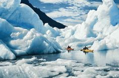 Kayaking Glacier Grey