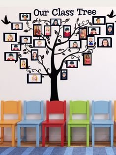 This is a fun back to school classroom décor idea! What a fun and cute way to decorate your classroom.