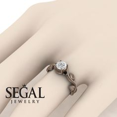 Yellow Gold Engagement Ring by Segal Jewelry Unique Diamond Engagement Rings, Classic Engagement Rings, Perfect Engagement Ring, Rose Gold Engagement Ring, Diamond Rings, Solitaire Diamond, Sapphire Rings, Diamond Jewelry, Moissanite