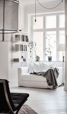 Awesome spacious white scandinavian apartment with black details home livin Living Room Inspiration, Interior Design Inspiration, Home Interior Design, Interior Styling, Design Ideas, Interior Designing, Classic Interior, Design Styles, Contemporary Interior