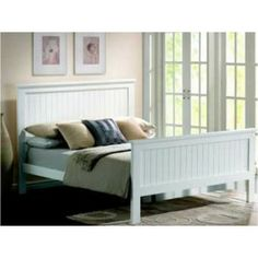 £134.99 - Attractive look and beautifully designed the Joseph Larissa Wooden Bed Frame gives an amazing look to your bedroom. This simple but stylish bed frame is crafted from sturdy rubber wood with a lick of lacquered white paint for a beautiful finishing touch. This bed frame is a modern style featuring a high head and contrast low foot end which creates the feeling of space in the room and also it features modern panel details.