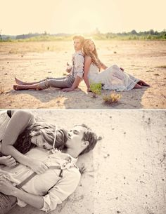 Lovely, engagement shoot or beach wedding. - Click image to find more Photography Pinterest pins