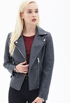 Quilted Moto Jacket | Forever 21 - 2000119296