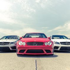 Wing or no wing? White, red, or matte-grey? #CLK63 or #C63? When you're talking #AMG's batcrap-crazy Black Series, it really doesn't matter—we're just happy all three stopped by for a visit.