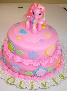 My Little Pony Cake by dulcelinas cakes Unique Cakes, Creative Cakes, Just Cakes, Cakes And More, Beautiful Cakes, Amazing Cakes, Cowboy Birthday, 7th Birthday, Birthday Ideas