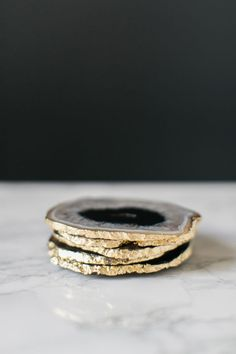 DIY Gilded Agate Coasters