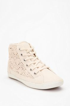 crocheted high-top sneaker from UO