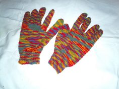 Hand Knitted Gloves by fifikatekrafts on Etsy