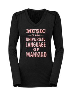 57th GRAMMYs Women's V-Neck Music Drape Sweatshirt