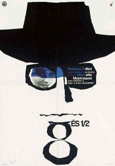 Polish poster for Fellini's 8 1/2. @designerwallace