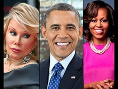 Obama Sacrificed Joan Rivers For Exposing Tranny Michelle Obama!! 2014   Published on Oct 20, 2014  Video says: Homosexual Illuminati member Barrack Obama apparently ordered a hitman to murder Joan Rivers, or his handlers did. One thing is certain, her death was no accident.
