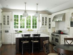 Christine Donner Kitchens - kitchens - two tone kitchens, glass front kitchen cabinets, inset cabinets, inset kitchen cabinets, upper cabine...