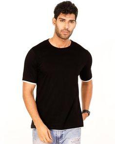 52a9272dc7fe JetBlack Color Cotton Mens T-Shirt - HTTS1046