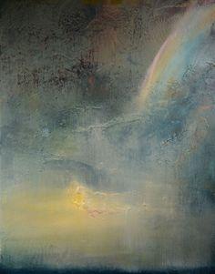 "Saatchi Art Artist: Maurice Sapiro; Oil 2014 Painting ""Rainbow At Dusk"""