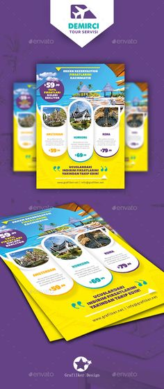 Astonishing  Travel Tours Flyer PSD  Templates  • Only available here ➝ http://graphicriver.net/item/travel-tours-flyer-templates/16347700?ref=pxcr