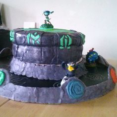 my version of skylanders cake for my lottle cusin