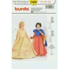BURDA - 2480 Princesse, Blanche-Neige - enfant